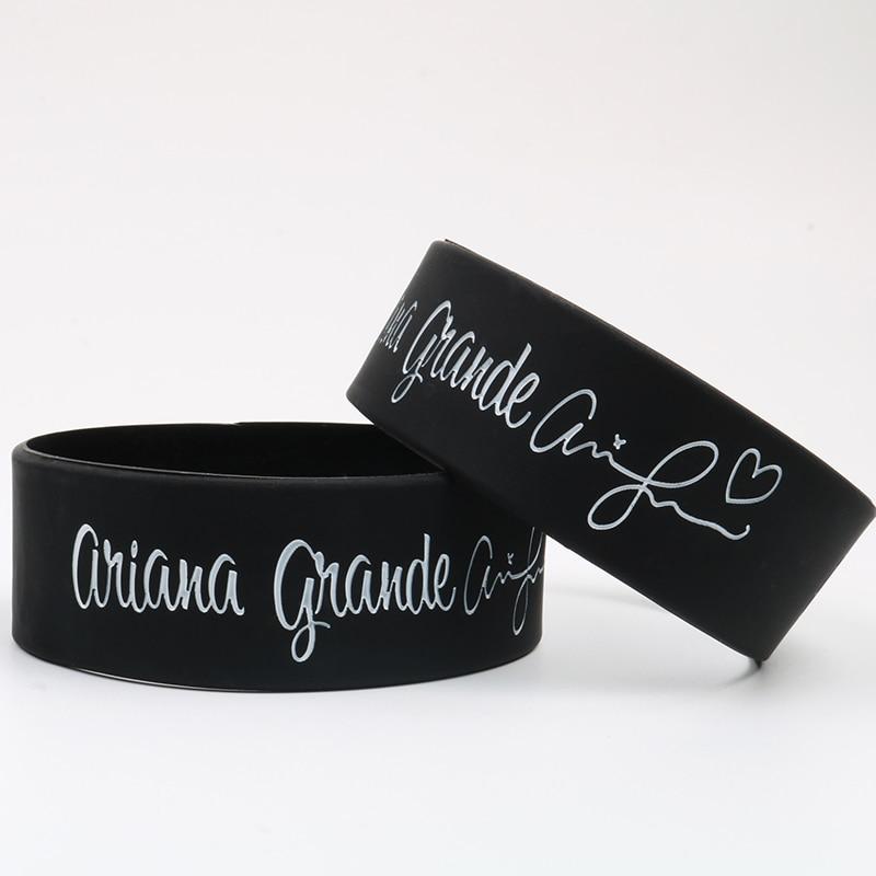 1PC Ariana Grande Silicone Wristband Silicone Bracelets women and men's Silicone Bracelets & Bangles Gift Free Shipping