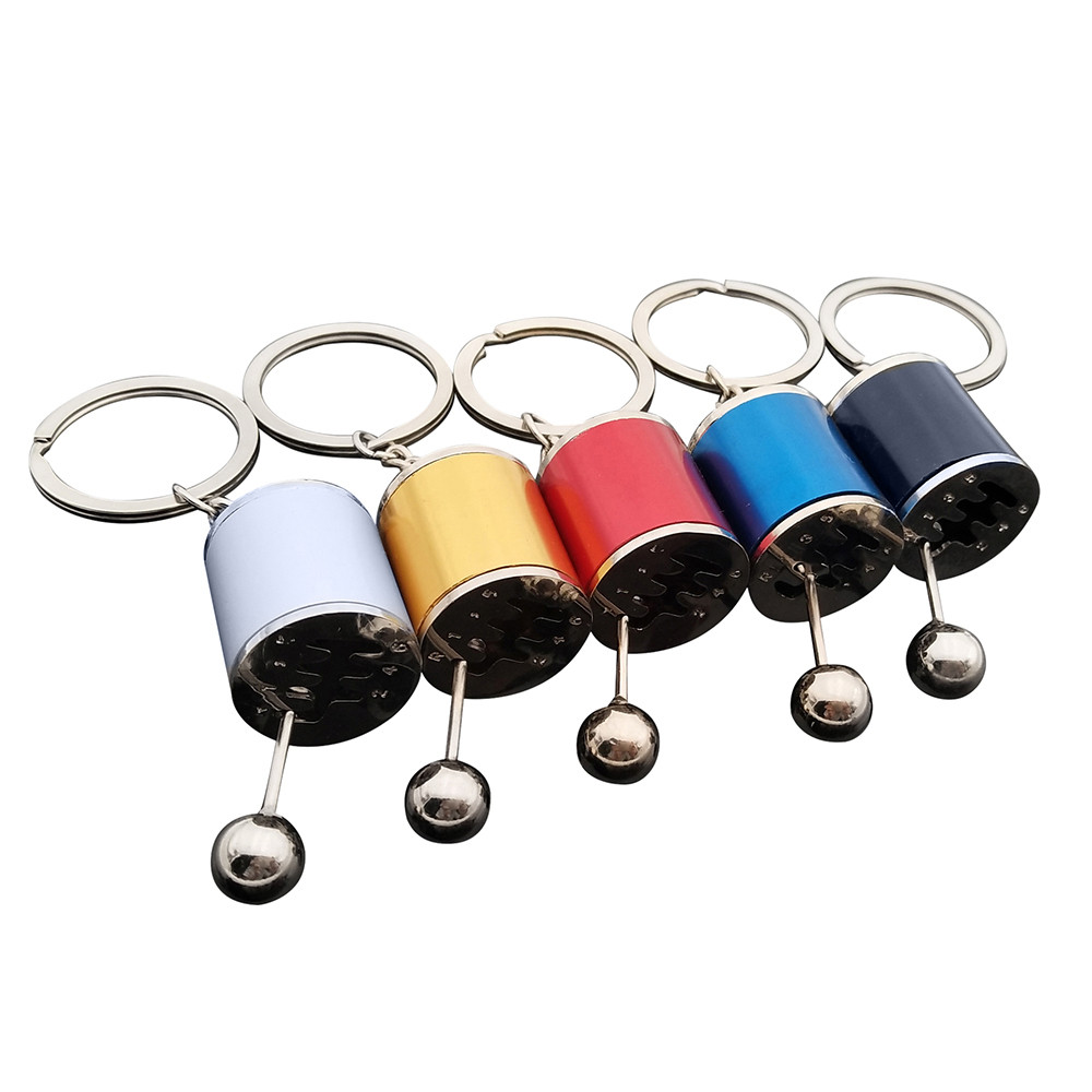 купить 2018 Car Key Rings Car-styling Gear Knob Gear Shift Gear Stick Gear Box Metal Key Chain Keyfob Car Keyring Gift Dropshipping по цене 76.84 рублей