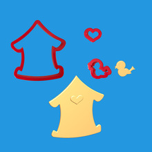 3 Pcs/set Bird House Fondant Cake Plastic Embossed Candy Biscuits Molds Cookie Mould DIY Decoration Baking Tools