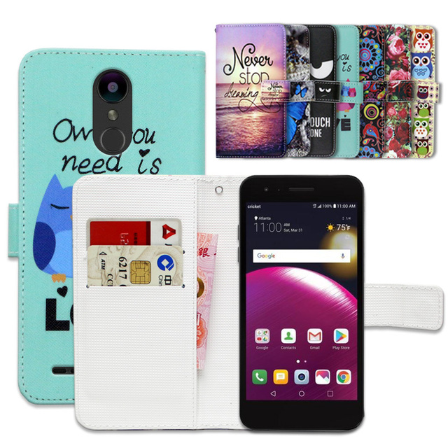 US $3 99 20% OFF|Cartoon Wallet Case for LG Fortune 2 100% Special Luxury  PU Leather Flip Cover Book case -in Wallet Cases from Cellphones &
