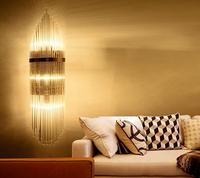 Kristall minimalistischen glas wandleuchte nachttischlampe schlafzimmer wohnzimmer lampen warme gang korridor lampe kreative restaurant ZH