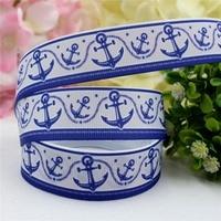 1642615 , 22MM Marine style Printed grosgrain ribbon, DIY handmadeHair accessories Material wedding gift wrap