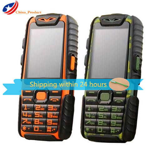 Водонепроницаемый телефон Guophone A6 Life с внешним аккумулятором 2,4 дюйма, 9800 мАч, ударопрочный громкий динамик, мощный фонарик с русской клавиат...