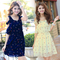 Free Shipping The New 2014 Cultivate One S Morality Chiffon Dress Pure And Fresh And Sweet