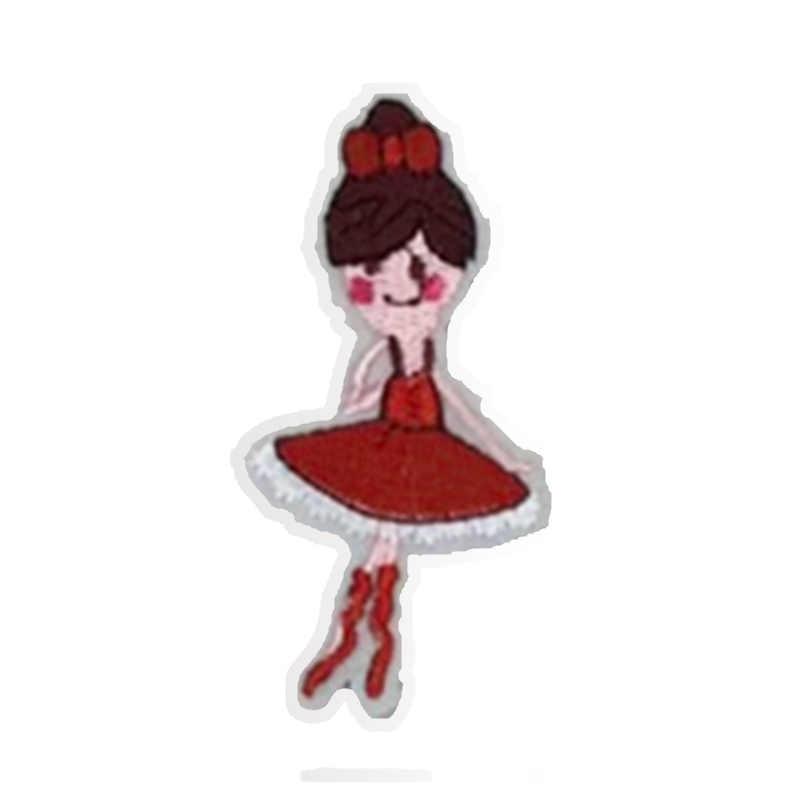 YITUN/10 шт., милый мультяшный Декор для девочек, нашивки, нашивки с вышивкой, значок с железом для одежды, аксессуары, куртка с аппликацией