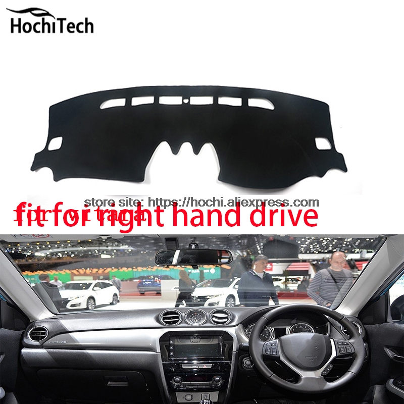 For Suzuki vitara right hand drive dashboard mat Protective pad black Red car-styling Interior Refit sticker Mat products for toyota prius 2012 2013 right hand drive dashboard mat protective pad black car styling interior refit sticker mat products