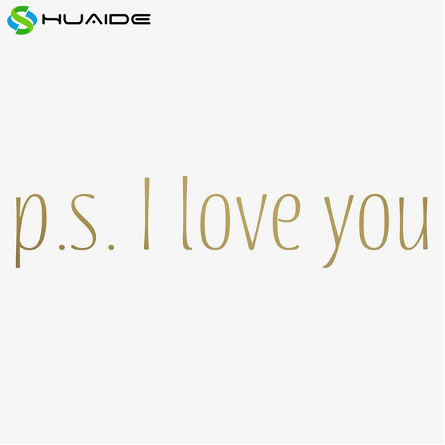 p s i love you gold words wall stickers home decor door decor