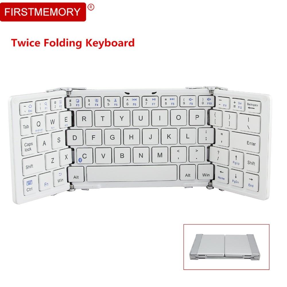купить Wireless Bluetooth Keyboard Portable Folding Keypad Mini Rechargeable Gaming Keyboards for iphone ipad PC Tablet teclado gamer онлайн