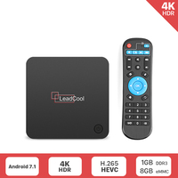 Leadcool X Android 7.1 Set Top Box 1GB+8GB Support 2.4G WIFI S905L Media Player leadcool X Smart Android Box Like X96MINI Box