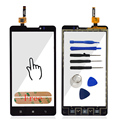 A+++ Quality Touchscreen HighScreen For Lenovo P780 Touch Screen Digitizer Panel Front Glass Sensor + Sticker Free Shipping
