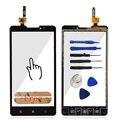 Um +++ qualidade touchscreen highscreen para lenovo p780 toque digitador da tela sensor de vidro do painel frontal + adesivo frete grátis