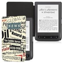 цена на Case For Pocketbook 626/624/626plus eReader,Magnetic slim fashion cover case for PocketBook Basic Touch 2/PocketBook Basic 2