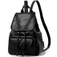 Fashion Women Backpack High Quality Youth Leather Backpacks for Teenage Girls Female School Shoulder Bag Bagpack mochila PB20