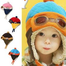 Pilot Earflap Fleecy Cap Winter Beanie Baby Kids Boy Girl Warm Hats