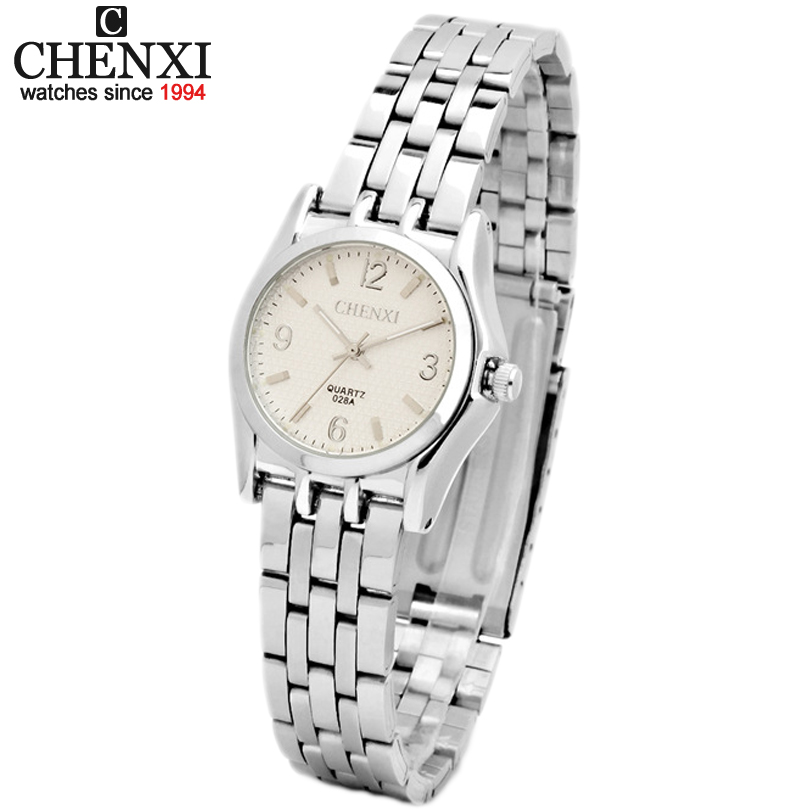 Ladies Quartz Watch New Fashion Women elegant Clock Stainless Steel Bracelet Watches Chenxi High-Quality Brand Female WristWatch brand new 2016 fashion ladies casual watches rhinestone bracelet watch women elegant quartz wristwatch silver clock