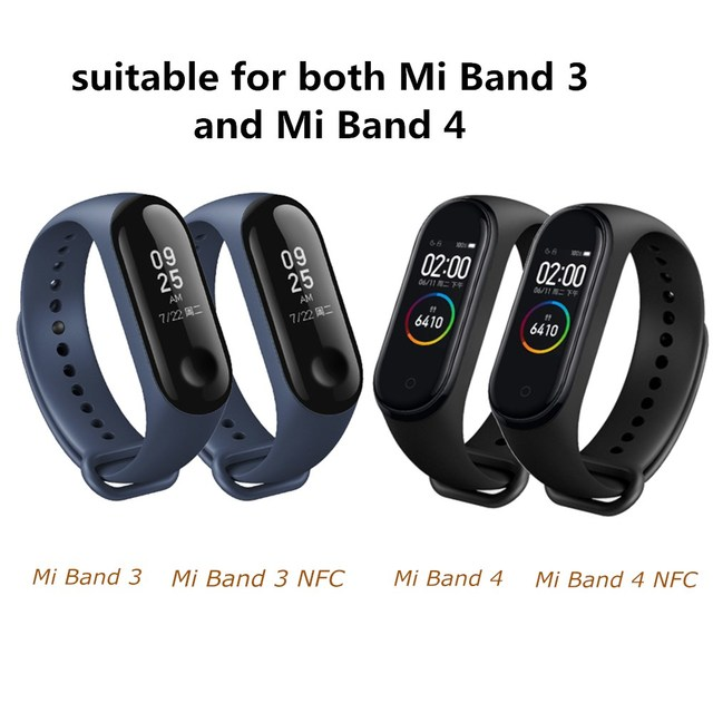 Silicone Bracelet for xiaomi mi band 4 3 bracelet Pure Dual color Replacement Strap Mi Band 4 3 Miband 4 3 Wrist Straps band 2