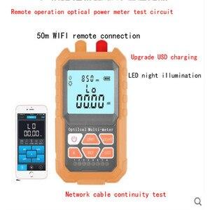Image 2 - 3 in1 الطاقة الضوئية متر 1 ميجا واط مع 5 كيلومتر البصرية خطأ محدد شبكة كابل اختبار الألياف البصرية تستر ، إضافة APP عن بعد WIFI النسخة
