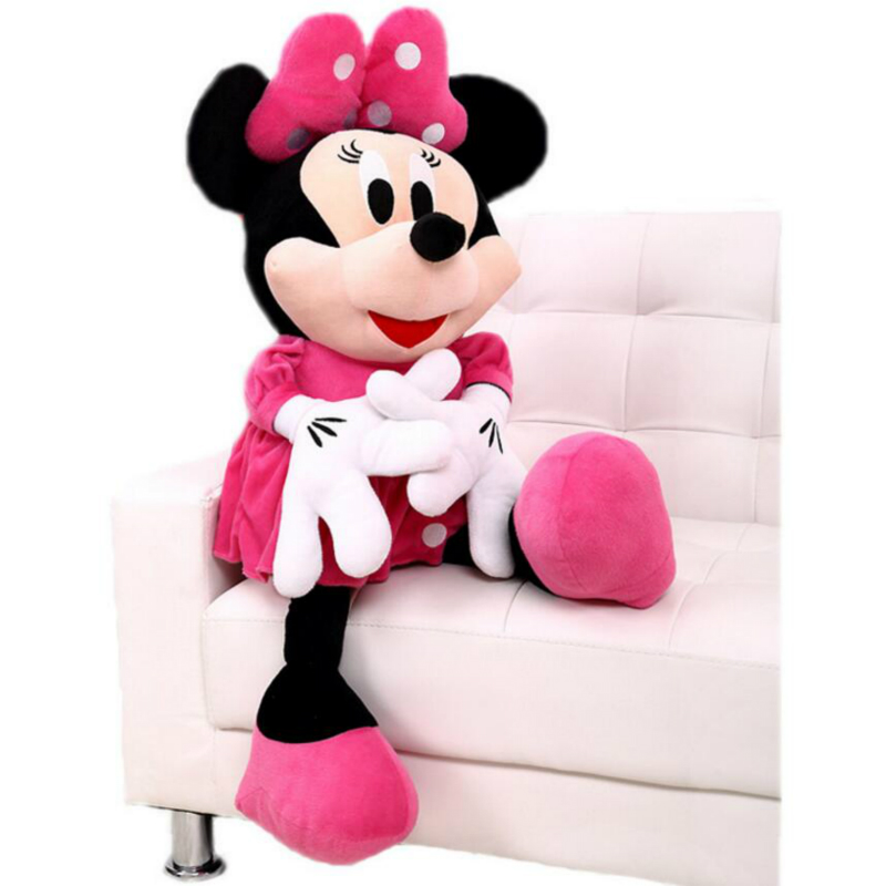 50 Cm Minnie Mouse Stuffed Doll Minnie Plush Soft Stuffed Doll Anime Girl Birthday Gift Children Kids Baby Toys
