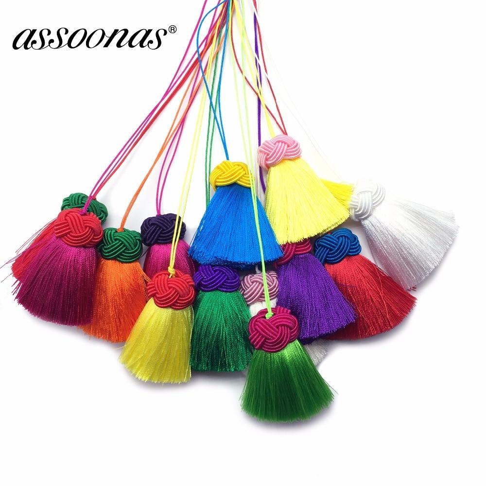 Assoonas L180,5.5cm,tassel,silk Tassels,jewelry Accessories,accessories Parts,jewelry Making,diy Earrings Pendants,2pcs/lot
