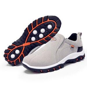 Image 3 - VESONAL mocasines sin cordones para hombre, zapatillas transpirables de ante, cómodas para caminar, para primavera y verano, 2019