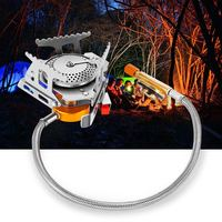 Outdoor Folding Gas Stove Camping Gas Burners Hiking Picnic Stainless Steel Cooking Stove Camping Stove Split Burners Equipment