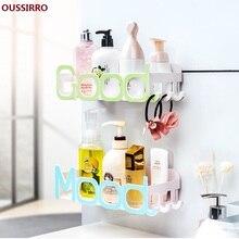OUSSIRRO horkovzdušný sprchový rohový držák držáku držáku držáku na koupelny koupelnový příslušenství sprchový nástěnný police s přísavkou