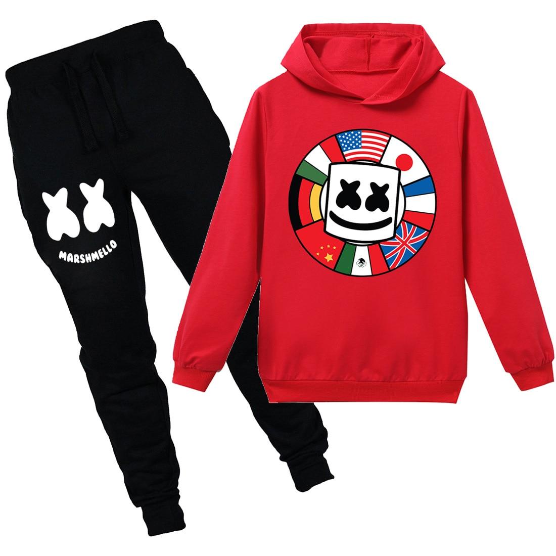 75e56d4d5 DJ Music Marshmello Fashion Children Hoodie Set New Boys Girls Clothes  Casual Tops Cotton ajax 2018