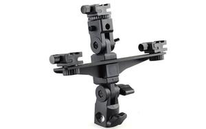 "Image 3 - DSLRKIT Dual / Triple Flash Bracketผู้ถือร่มขาตั้งรองเท้าสกรู1/4"""