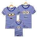 Familia juego mirada outfit ropa set 2016 verano de manga corta madre padre hija hijo clothing niños camisetas a juego