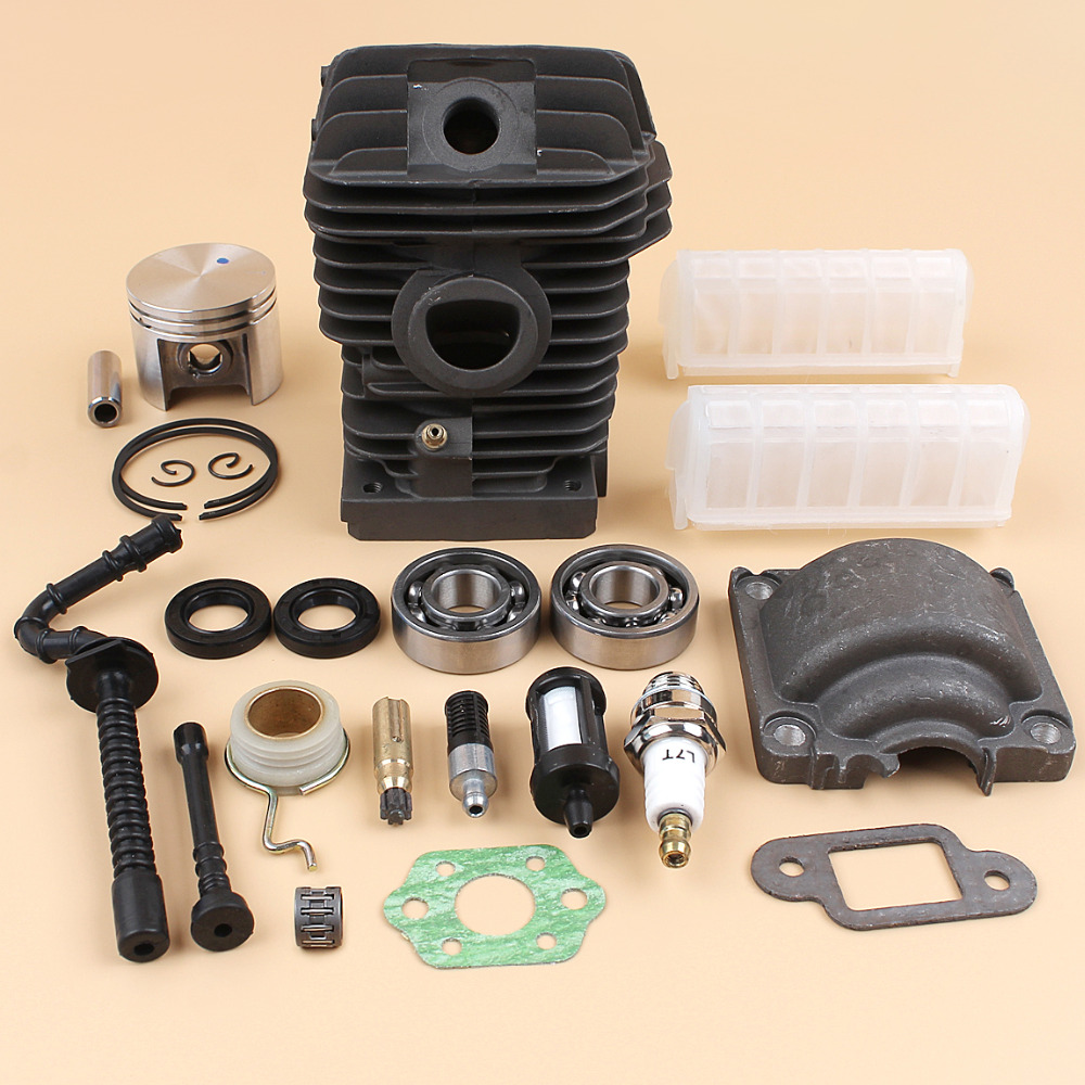 42.5mm Cylinder Piston Engine Pan Base Ball Bearing Oil Pump Kit For STIHL MS250 MS230 025 023 Chainsaw Motor Service Kit купить недорого в Москве