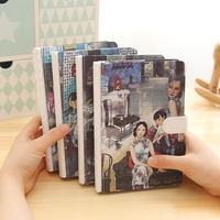 Chinese Stytle Creative Notebook Vintage Art Notepad Line Pages Diary Book High Quality Paper For Gift