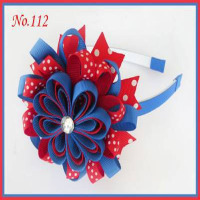 20 blessing good girl 3.5 B Bird's Nest Hair Bow with 3/8 grosgrain ribbon handcustomize FREE Shipping accessories
