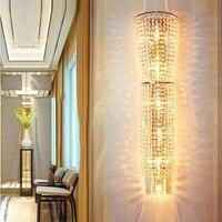 Декоративное настенное лампы установлены Свет Бра Гостиная прикроватные настенные светильники светодиодные Крытый спальня кристалл свет