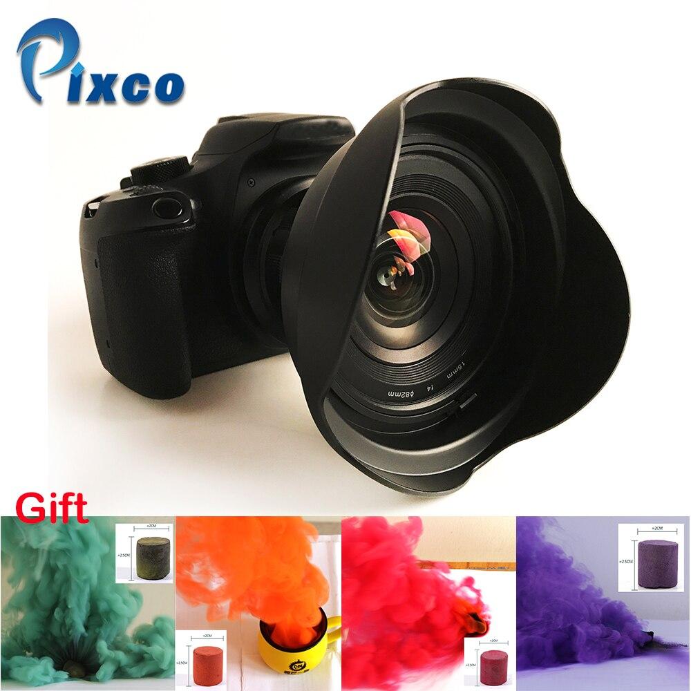 15mm f/4 f/4.0 F4 Ultra Wide Angle Lens suit for Nikon <font><b>Canon</b></font> <font><b>Digital</b></font> SLR Cameras+Gift-4Color Studio Photography Props Smoke Cake