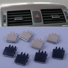 4 шт./компл. автомобиля центр Даш A/C вентиляционная решетка лезвие ломтик кондиционер лист клипса для Toyota Corolla 2004 2005 2006-2009 2010