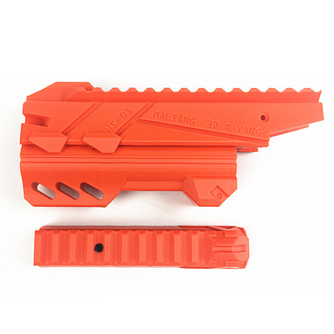 Maliang 3D Printing Modified HS-01A Front Tube and Top Rail Kit for Nerf Zombie Strike Hammershot BlasterMaliang 3D Printing Modified HS-01A Front Tube and Top Rail Kit for Nerf Zombie Strike Hammershot Blaster
