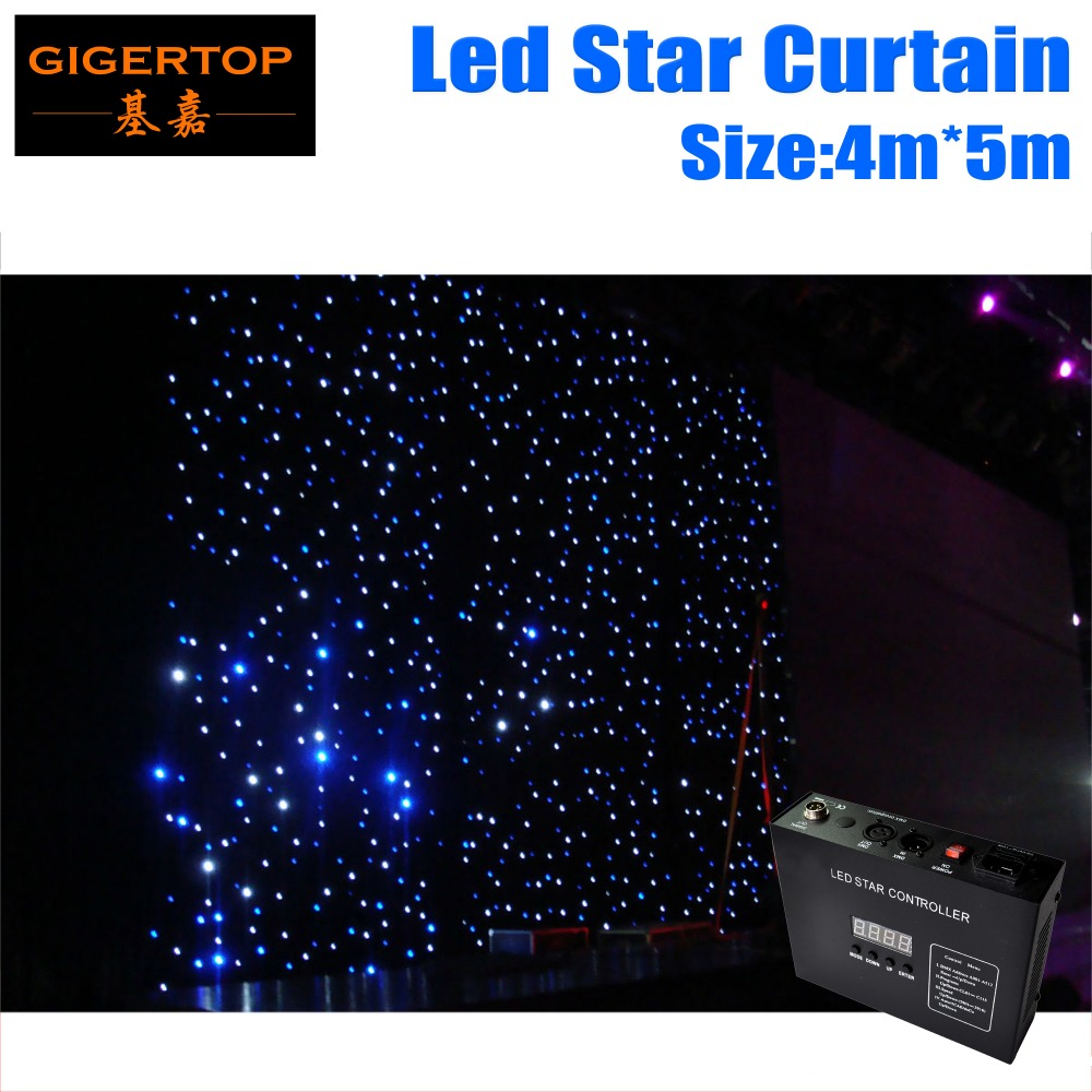4M*5M LED Star Curtain RGBW/RGB Colored  LED Stage Backdrop LED Star Cloth for Wedding Decoration 90V-240V with DMX Controller dmx512 digital display 24ch dmx address controller dc5v 24v each ch max 3a 8 groups rgb controller