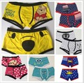 High quality 100% cotton lovely bear and horse cartoon men's Boxer / men underwear  (yellow)