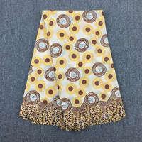 Высокое качество Африканский швейцарский вуаль кружева 045A бежевый + Кофе + желтый, 5 ярдов/пакет, 100% хлопок Африканский Свадебный кружевной т