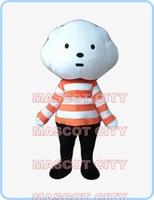 Белые облака хлопчатобумажные костюм талисман для взрослых Размер хлопчатобумажные, с мультипликационными персонажами для мальчиков тему