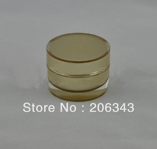 15g goud / parelwitte / roze acrylpot rechtronde zalfpot voor - Huidverzorgingstools - Foto 2