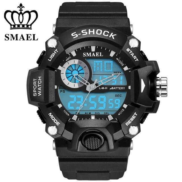 Fashion Brand Sport Watches 30m Waterproof  Wristwatches S Shock Men's Watch LED Digital Male Clock relogio masculine WS1385