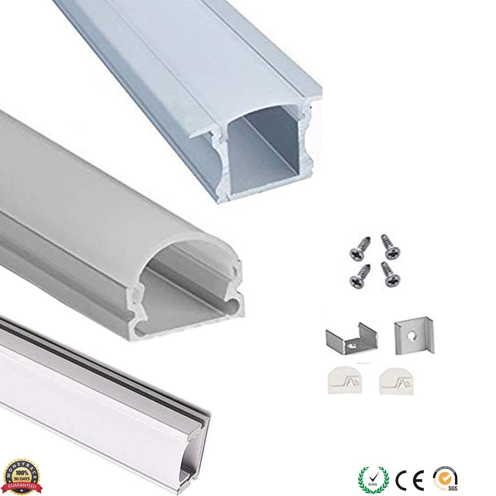 Aluminium Slim Surface Profile for LED Strip Lights Pack of 100