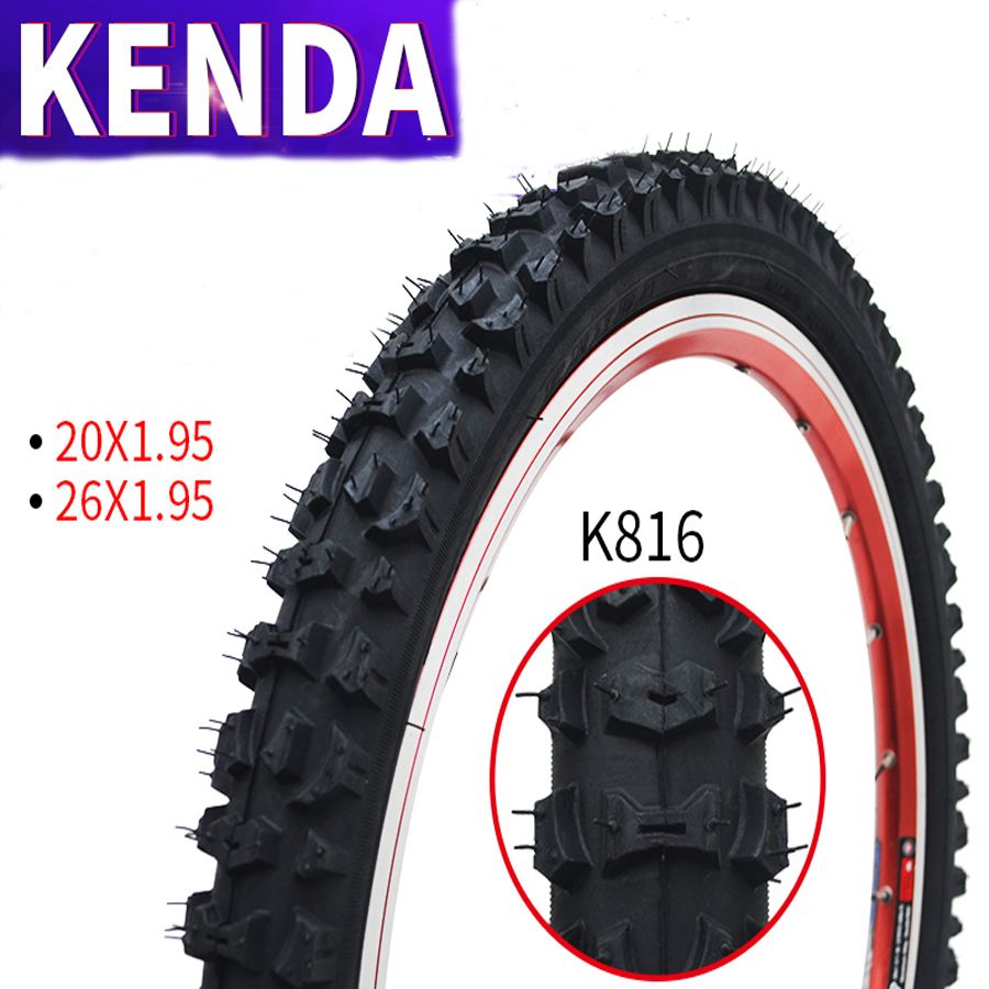 Kenda K816 Non-slip MTB Bicycle Tire Mountain Cycling Bike Tires tyre 20*1.95/26*1.95 pneu bicicleta Kenda/maxxi interieur kenda slick bicycle tires 26x1 5 mtb road bike tyre rubber slick tread tires for bicycle competition training bike tire 60 tpi