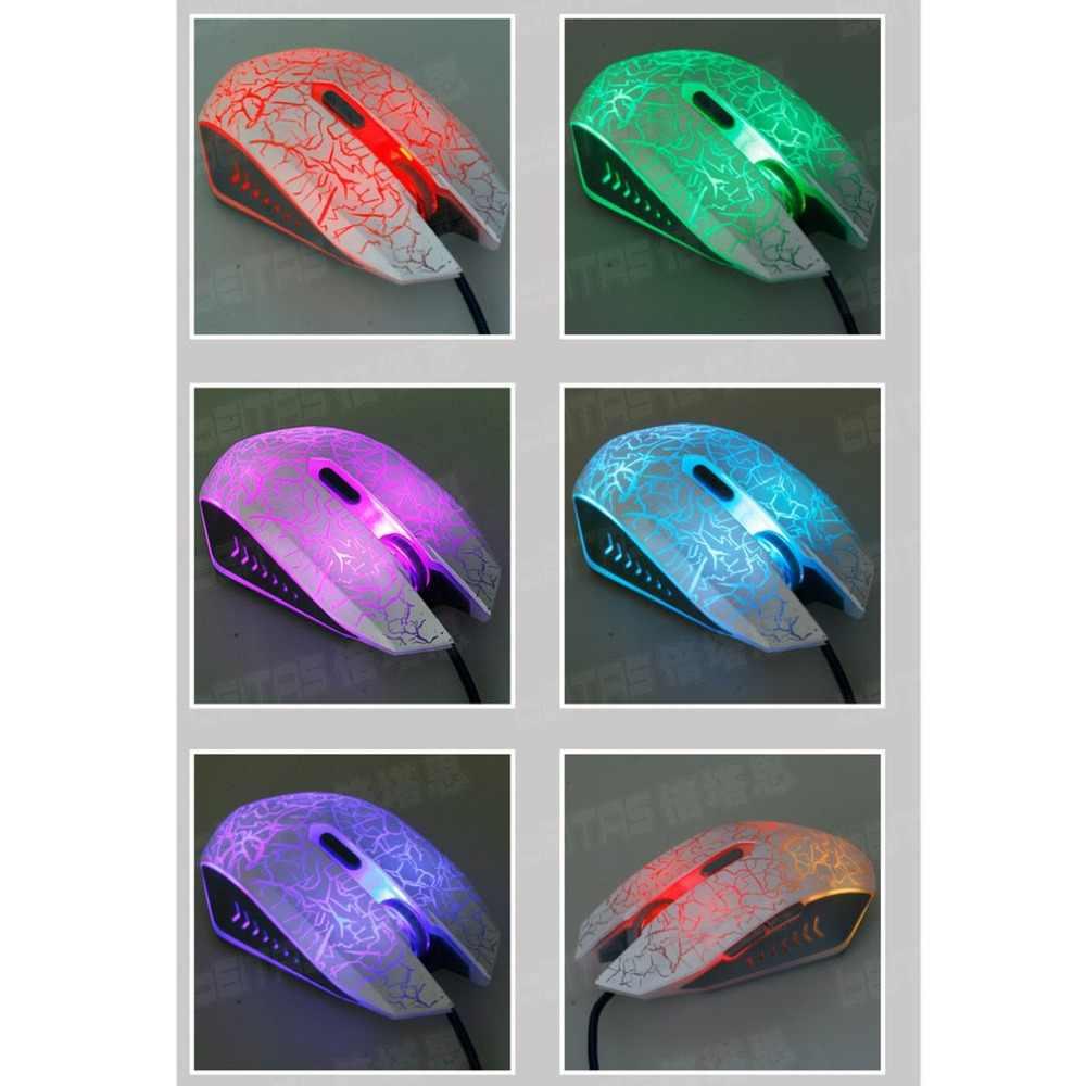 ماوس الألعاب ماوس بصري 4000 ديسيبل متوحد الخواص 6 زر Led ماوس بصري USB السلكية الألعاب الفئران الكمبيوتر ماوس ألعاب 7 LED اللون تغيير