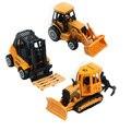 3 Pcs METAL 1:64 RED-HOT Super Power Diecast Cast MINI Series Construction Car Children 's Toys Forklifts+Shovel Snow+Bulldozer