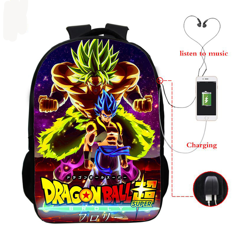 DRAGON BALL SUPER School Backpacks Boys Girls GOKU School Bag For Children Bookbag Anime Backpacks Usb Charging Knapsack Bags