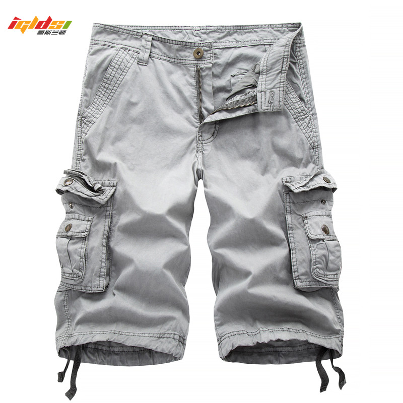 Tactical Camouflage Camo Cargo Shorts Men 2018 New Mens Casual Shorts Male Loose Work Shorts Man Military Short Pants 30-40