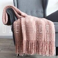Original Throw tassel Blanket Single Wool Weave Reticular Plaid Sofa Cover Carpet Plaid Bedspreads Weighted Blanket