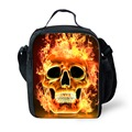 Brand Punk Style Skull Print Portable Lunch Bags For Kids Insulated Lunch Box Cooler Thermal Food Picnic Lunch Bag Bolsa Termica